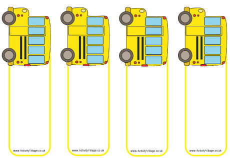school bus template printable