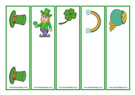 St Patrick\u0027s Day Bookmarks - Blank