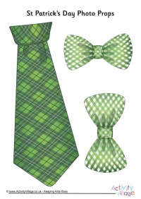 St Patrick's Day Photo Props - Ties