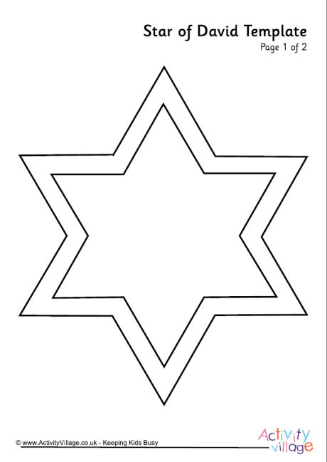 Star of David Template