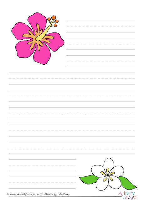 flower writing paper - Trisamoorddiner
