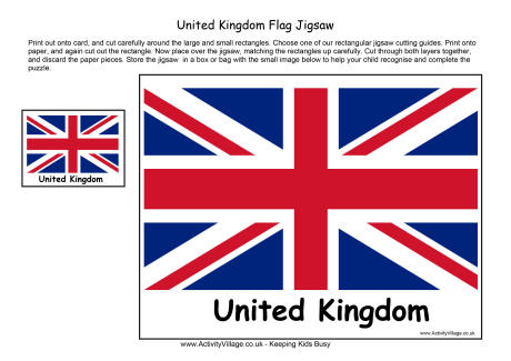 United Kingdom Flag Printables Home Activity Village - a-k-binfo