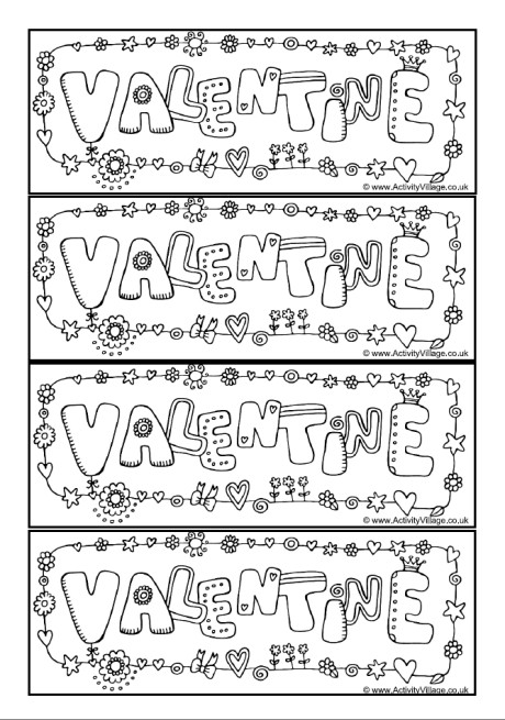 Printable Bookmarks for Valentine\u0027s Day