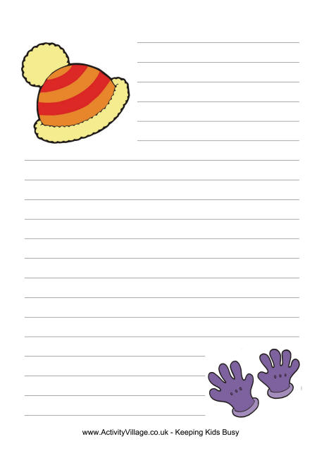 Woolly Hat Writing Paper