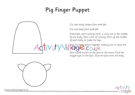 Pig Finger Puppet Craft