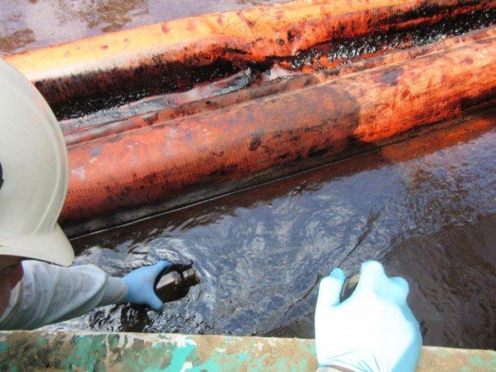 Minam sobre derrame de petr leo agua y peces de r o for Peces de agua fria para consumo humano