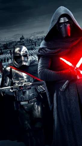 Fondos-pantalla-iPhone-Star-Wars-El-despertar-de-la-fuerza-Kylo-Ren-Captain-Phasma