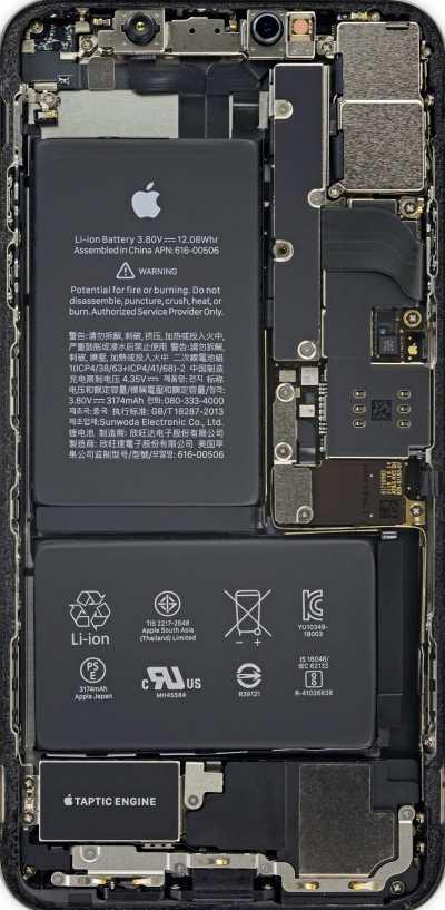 Descarga los wallpapers con el interior del iPhone XR y XS gracias a los Rayos X de iFixit