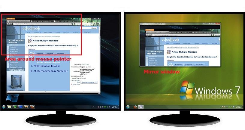 Mirroring - Features - Actual Multiple Monitors - Actual Tools - multi screen display