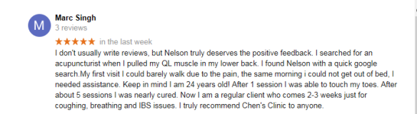 brampton acupuncture review by Marc