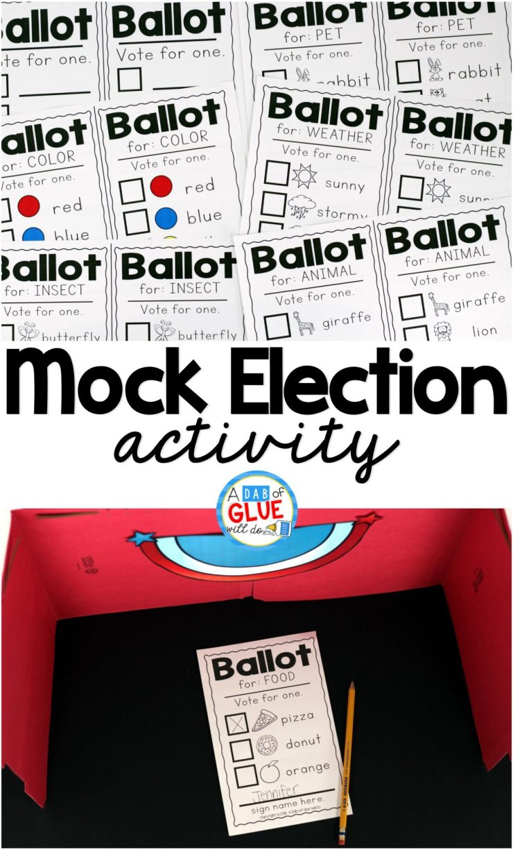Classroom Voting Ideas ~ A mock election for little learners dab of glue will do