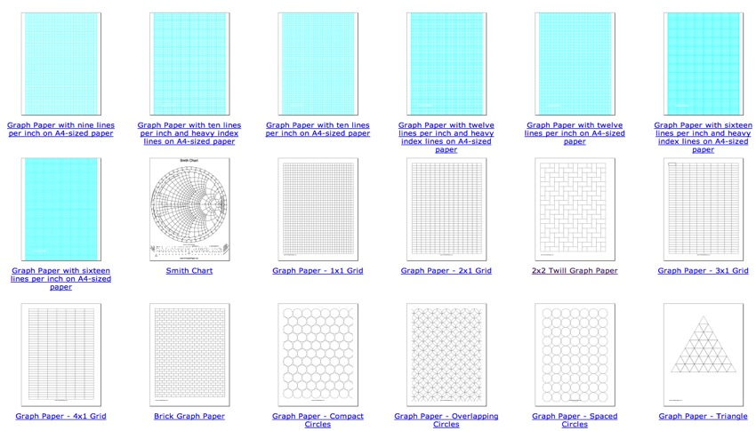 Graph Paper (and other types of paper to print out) « Adafruit