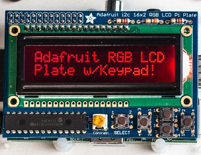 Adafruit RGB LCD Plate and wiringPi Wiring Pi