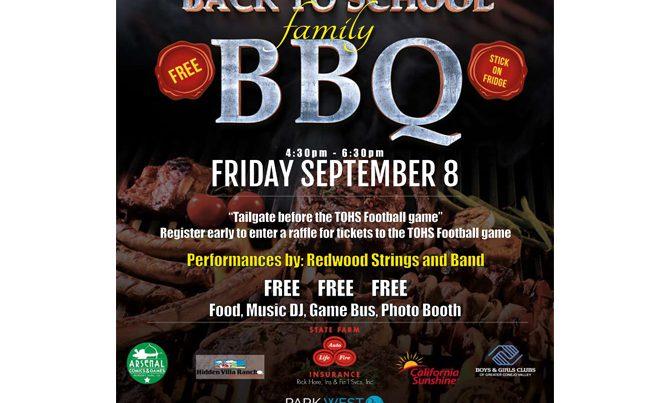Redwood Middle School BBQ Flyer \u2013 Ad Agency West