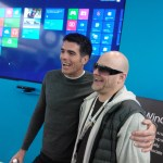 Microsoft Canada president posing with Windows Phone MVP Atley Hunter.