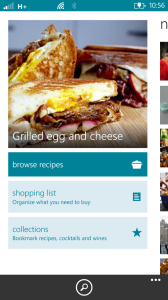 Bing Food & Drink App