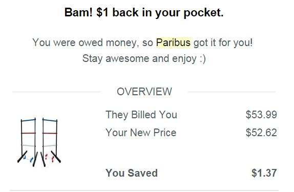 Paribus save