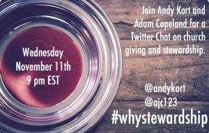 Stewardship Twitter Chat: Wednesday Night, 11/11