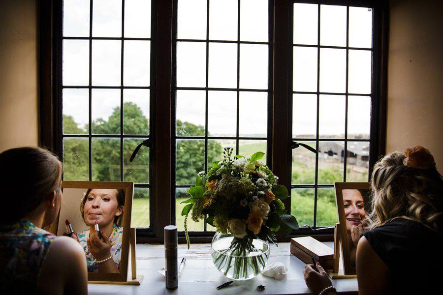 mirrors wedding prep