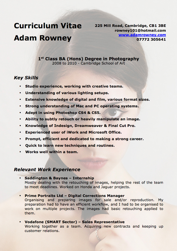 21 best photographers resumes images on pinterest creative sample - Photographer Resume Samples