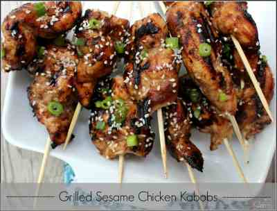 Grilled Sesame Chicken Kabobs | healthier version of our favorite Chinese Take-Out recipe