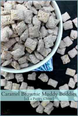 Caramel Brownie Muddy Buddies | a.k.a Puppy Chow