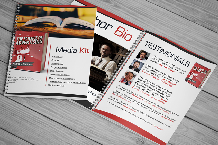 Author Media Kit Customizable Template