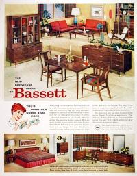 1959 Bassett Furniture Classic Vintage Print Ad