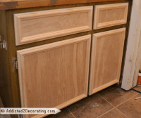 Bathroom Makeover Day 3  How To Make Cabinet Doors ...