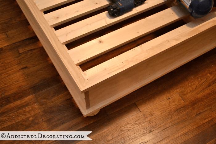 diy king size platform bed with storage