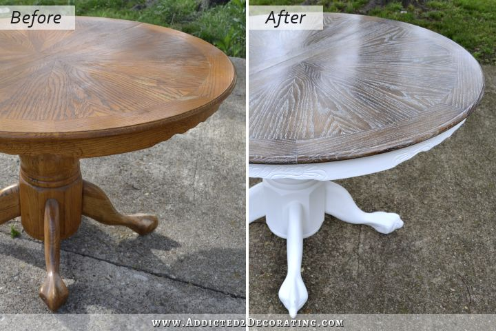 Cerused Oak Dining Table Table Makeover Finished