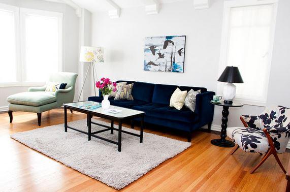 A Velvet Sofa The Starting Point For My New Living Room