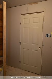 Moving & Reframing My Bathroom Door (Plus, My Door Design