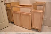 Furniture-Style Bathroom Vanity Made From Stock Cabinets ...