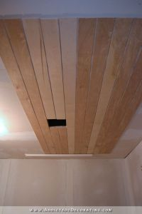 My Finished Music Room Ceiling (Painted Wood Plank Ceiling)