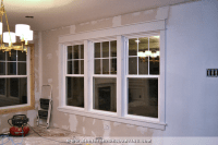 Dining Room Window Trim Progress