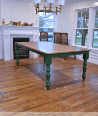 My Finished DIY Farmhouse Dining Table