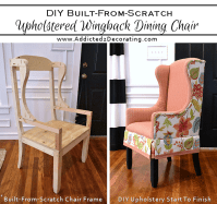 DIY Upholstered Wingback Dining Chair  Finished! (How To