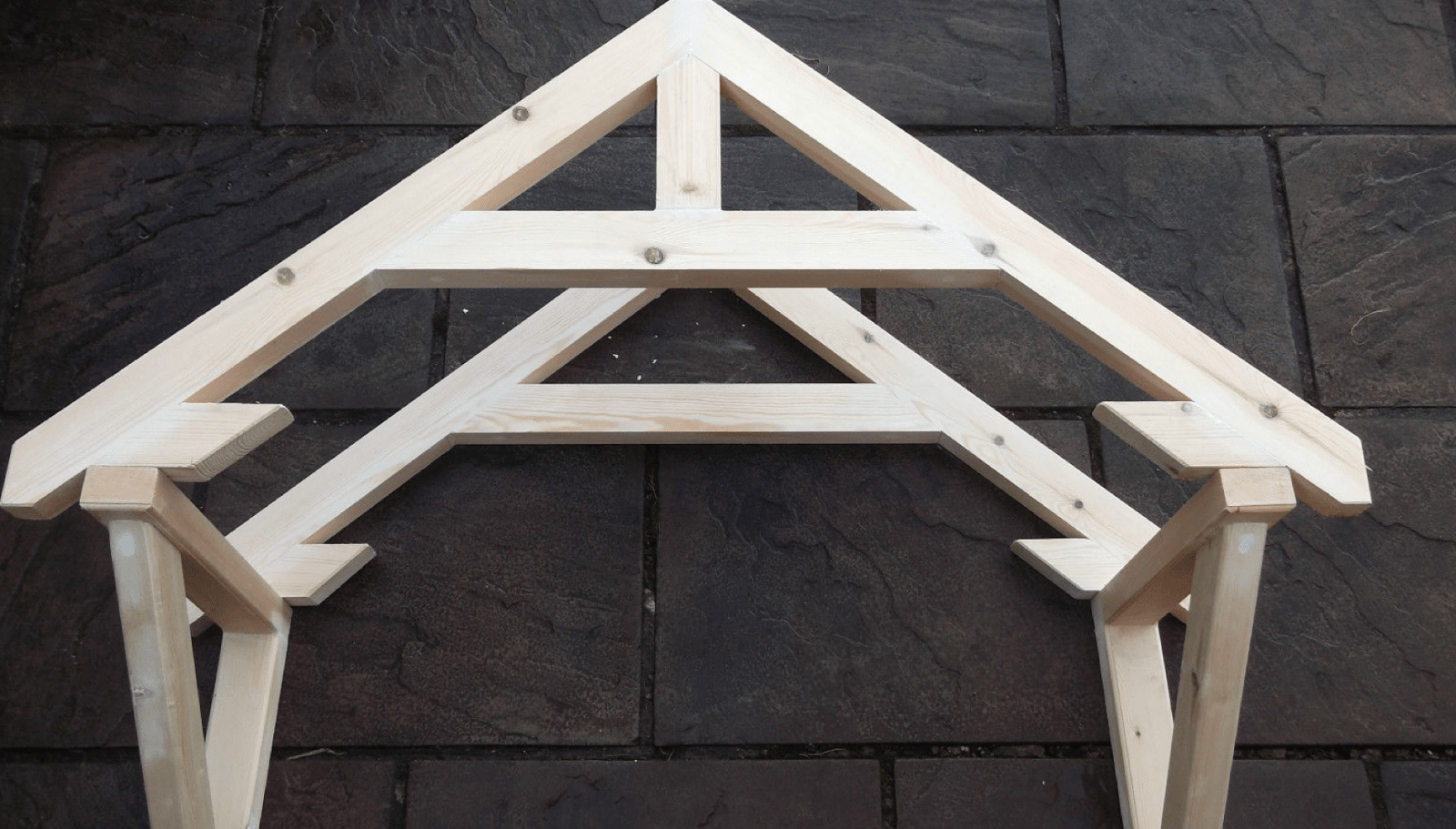 How To Build A Small Portico Above A Door  Part 1  The