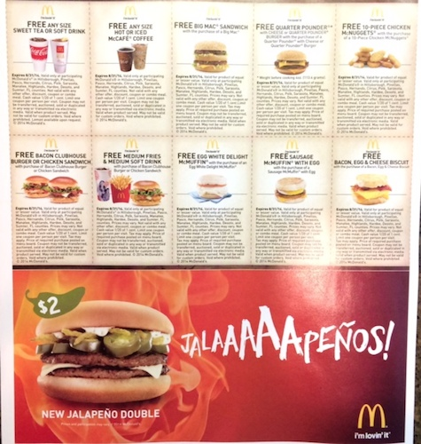 McDonald\u0027s Coupons in RedPlum Flyers FREE Any Size McCafe or Sweet