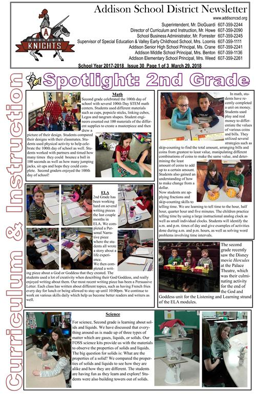 ACSD Newsletter - Issue 30
