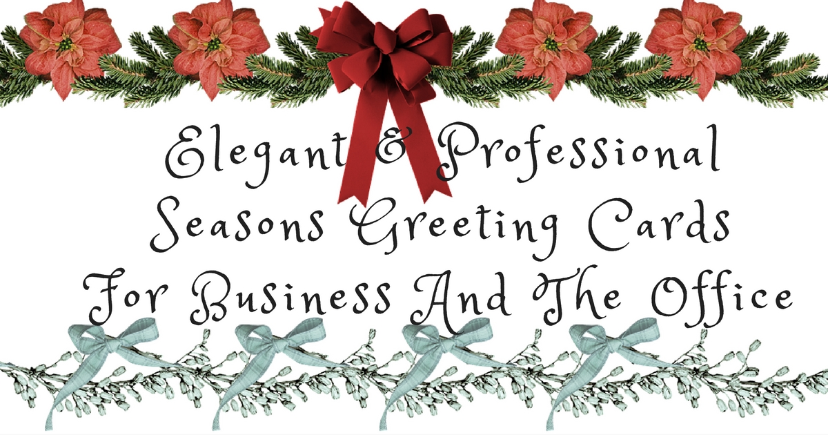 Business Season Greetings Cards for a Professional Start to a New Year