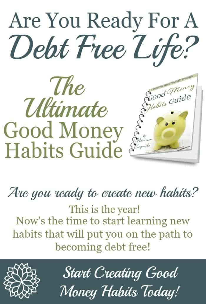 Good Money Habits - A Mess Free Life - help me budget my money for free