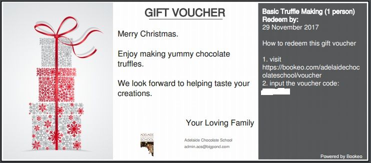 Gift Vouchers - make your own voucher
