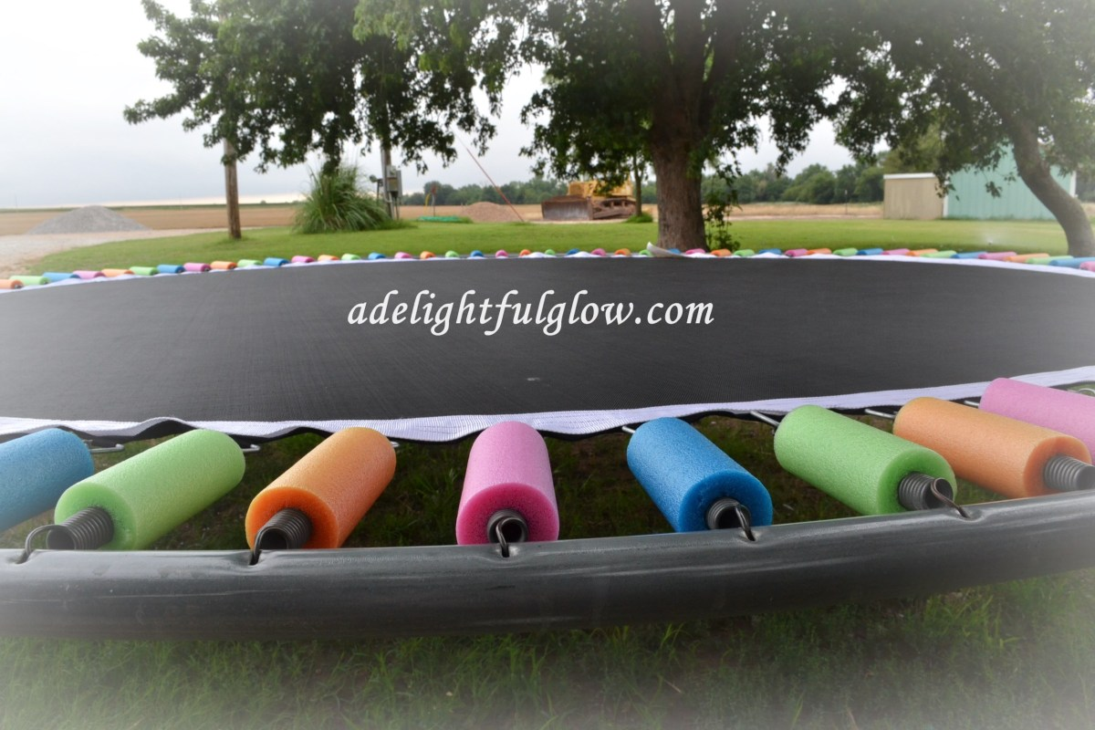 A Trampoline, Pool Noodles, and a Pinterest-Inspired Idea