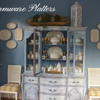 Hanging Creamware Platters