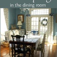 The Dining Room - Simplified Winter Decor