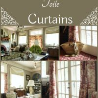 Red Toile Curtains
