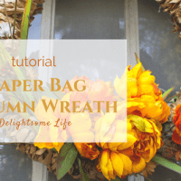 Paper Bag Wreath For Fall