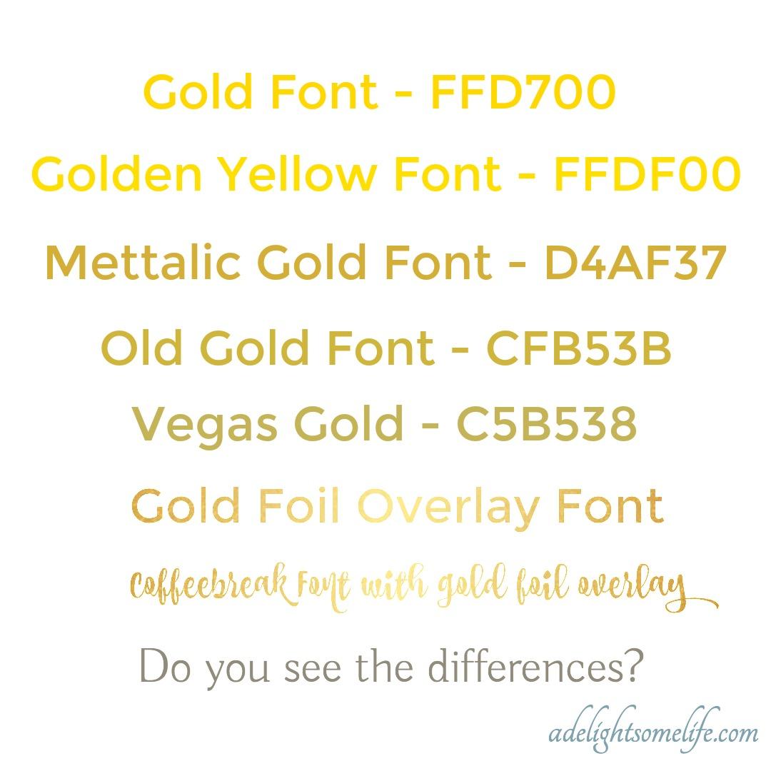 Fullsize Of Metallic Gold Color Code